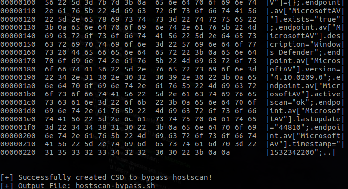 Bypass Cisco AnyConnect Hostscan · Gilks